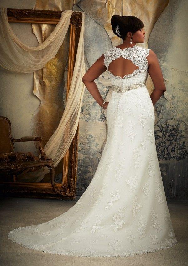 Awesome Mori Lee Julietta Plus Size Lace Wedding Dres
