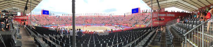 Center Court auf der Beach Volleyball WM 2017 in Vienna (Wien - Österreich)