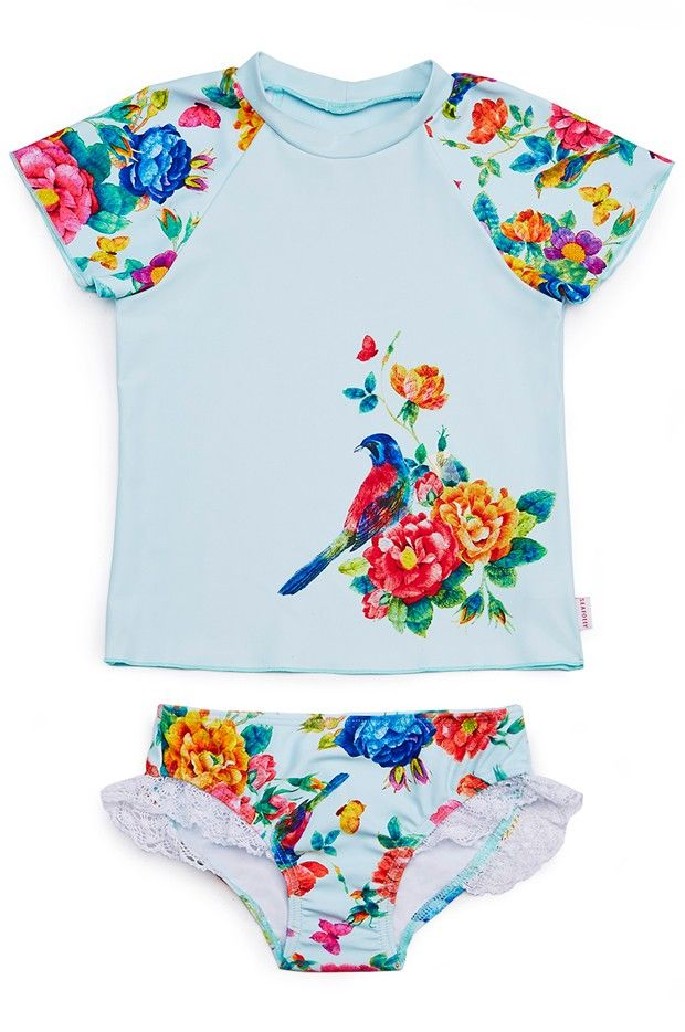 Seafolly Girls Baby Birdie Rashie Set