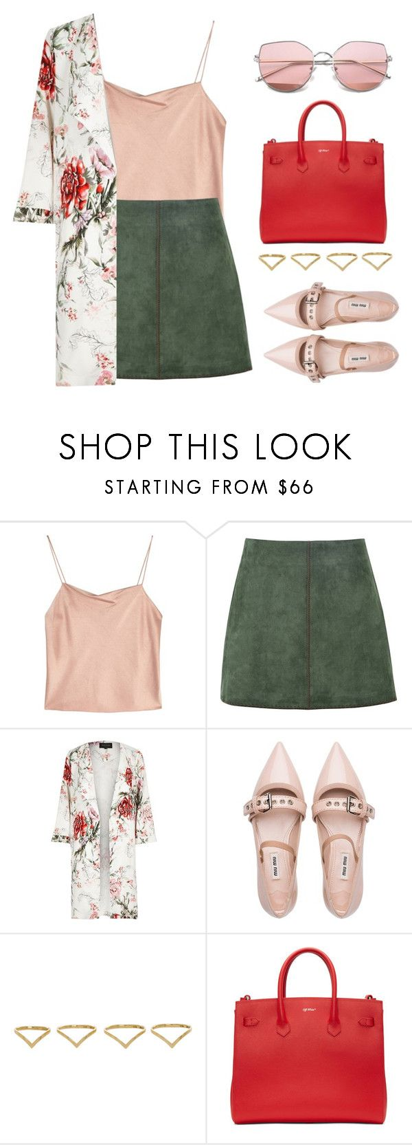 """""""till his last breath"""" by queenshaima ❤ liked on Polyvore featuring Alice + Olivia, George J. Love, River Island, Miu Miu, Ana Khouri and Off-White"""