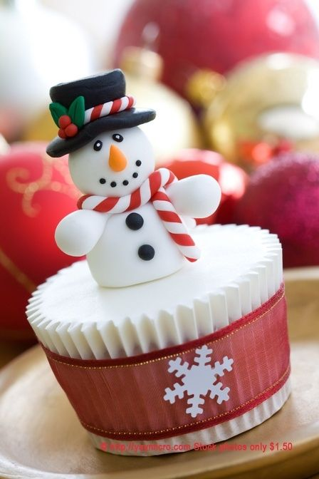 Christmas Snowman Cupcake  Remember to visit www.sealedbysanta... for your letter from Santa!