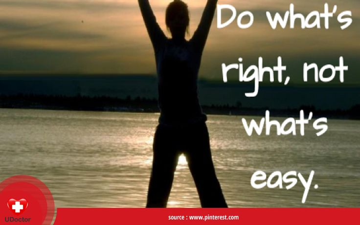 Do what is right, not what is easy. Good night, UDoctorians!