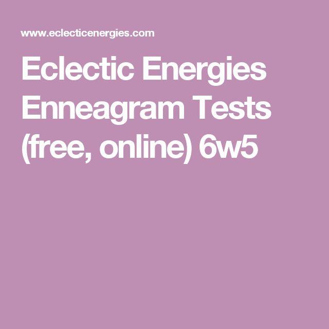 Eclectic Energies Enneagram Tests (free, online) 6w5