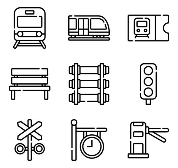 50 Free Vector Icons Of Train Station Designed By Freepik Train Station Train Station