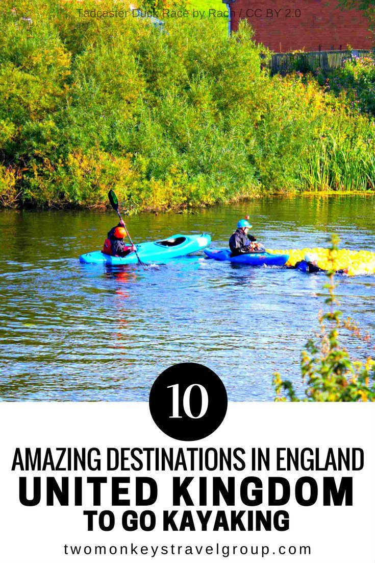 10 Amazing Destinations in England, United Kingdom to go Kayaking Here is a list of 10 AMAZING DESTINATIONS IN ENGLAND, UNITED KINGDOM TO GO KAYAKING. There are a ton of different kayaking trails to choose from in England. Some of them pass through historic areas, where you will see towns like Cowes from a different perspective. Others pass through scenic rural areas, where you will see colorful flora and fauna, unique birds, and even mountains in the distance.