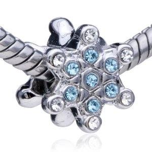 Blue Crystal Snowflake Pandora Charm