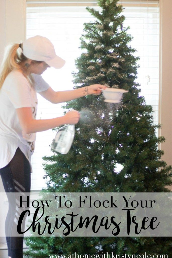 How To flock your Christmas Tree on At Home With Kristyn Cole