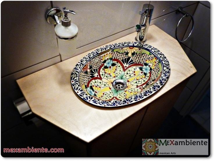 handbemalte Waschbecken aus Mexiko Modell Aventura www