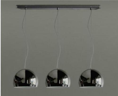 lamparas colgantes 3 luces cromo para cocina comedor tvf