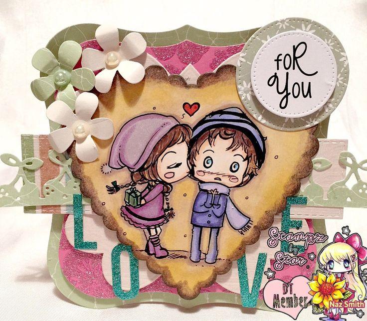 My card for Star Stampz Blog Sasayaki Glitter