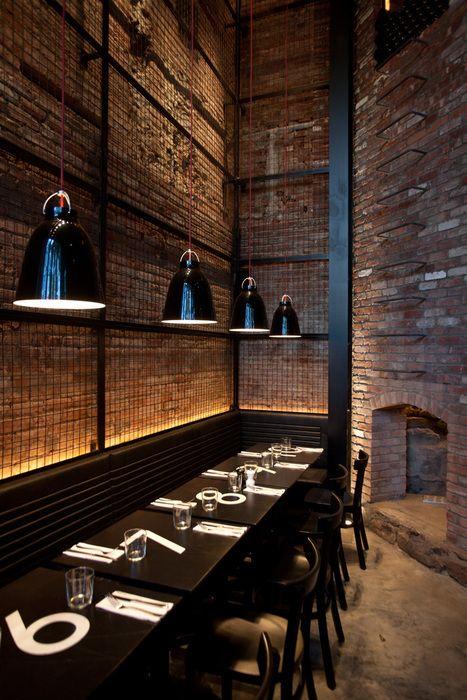 Caravaggio Black pendants by Lightyears at the Tartinery Nolita restaurant in New York.