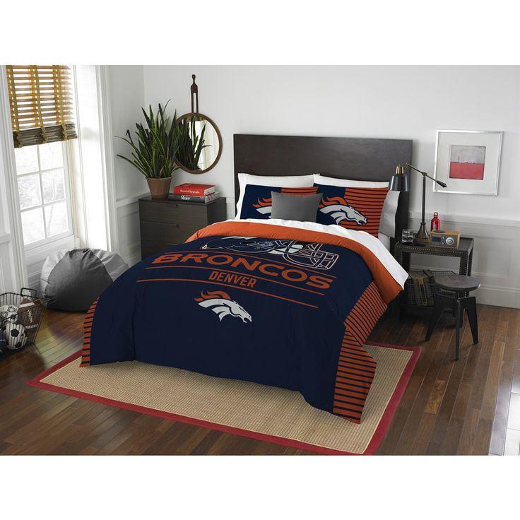 NFL Denver Broncos Draft Full/Queen 3-piece Comforter Set