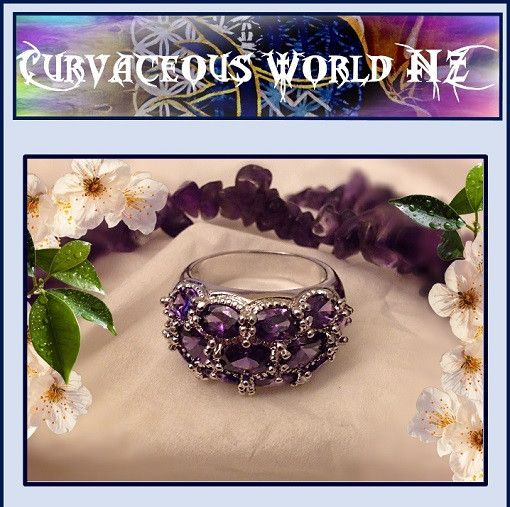 Amethyst White Topaz (CZ) Silver ring - ONE only Size 8(Q) for just $20.00.  ORDER HERE....... https://goo.gl/3wbWjT   Amethyst White Topaz Silver Ring 18k White Gold Plated & Silver. Stunning lustre and shine. 18k white gold silver plated fashion ring. Amazing quality and shine.  Amethyst represents stability and strength, invigoration and peace. It creates harmony within by focusing your energies and encouraging positive dreams. As a protective stone it is linked to faithfulness and…