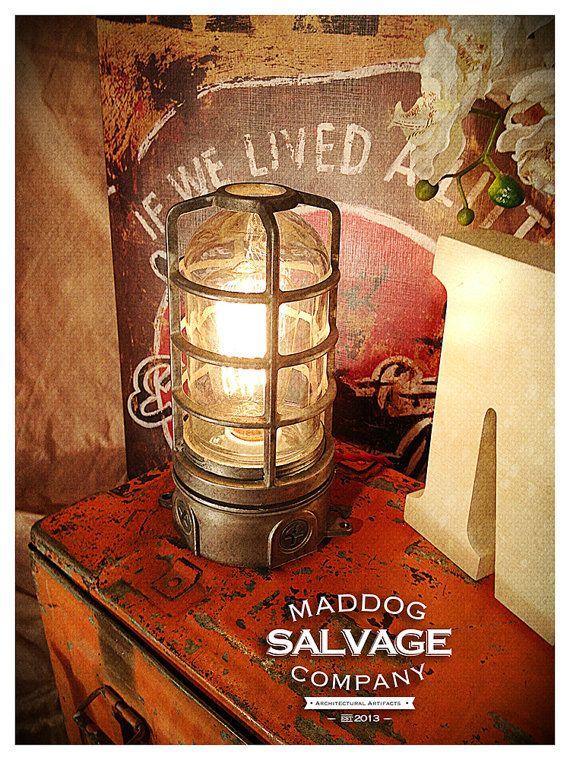 Vintage Industrial Explosion/Vapor Proof Desk Lamp Table Light Steampunk Decor on Etsy, $125.00