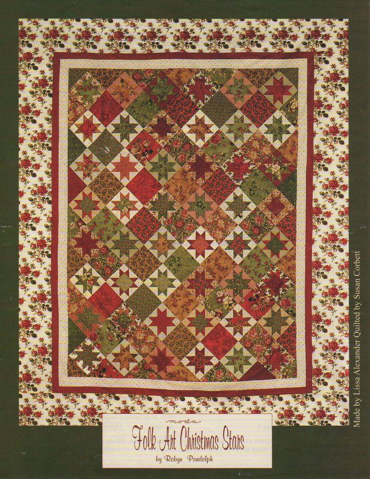 Folk Art Christmas Stars By Robyn Pandolph Quilt Pattern