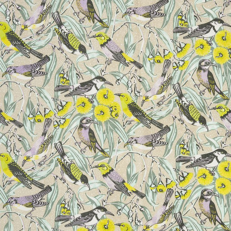 350gsm Linen/Cotton Upholstery Fabric, Flowering Gum - Beige