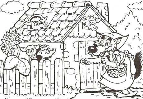 Polštářková knížka pro jemnou motoriku - Fotoalbum - Tvořeníčko - omalovánky - z pohádek pro nejmenší - pohádkové bytosti - ostatní pohádkové bytosti - O kůzlátkách 02