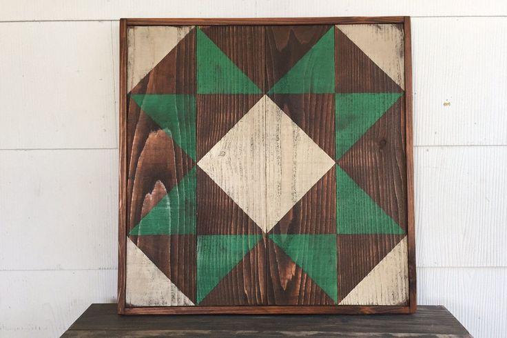 Barn Quilt, Handpainted Barn Quilt, Custom Quilt, Rustic Barn Quilt by PiedmontBrand on Etsy https://www.etsy.com/listing/503866514/barn-quilt-handpainted-barn-quilt-custom