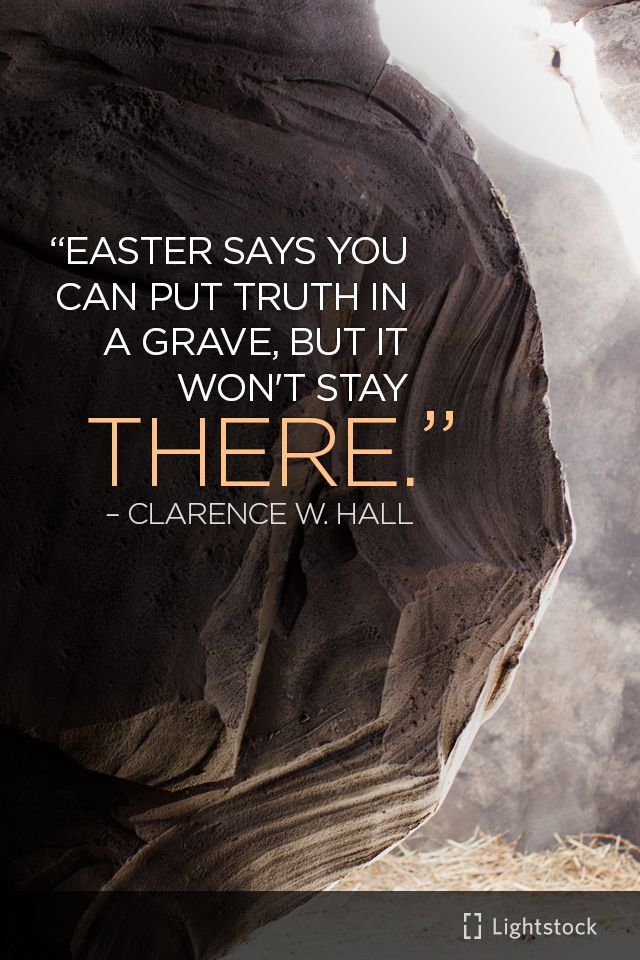 """Easter says you ..."