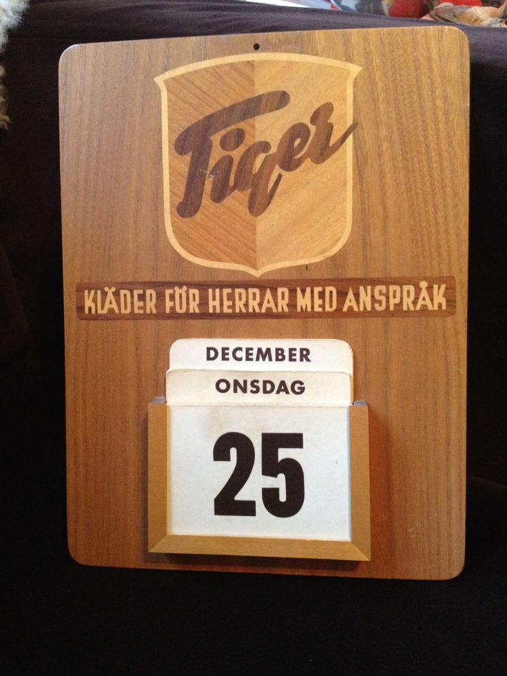 Tiger of Uddevalla har sedan 1903 gjort kvalitetskläder för herrar. Sedan 1993 kallar de sig Tiger of Sweden och nu görs bara ointressanta modeplagg.
