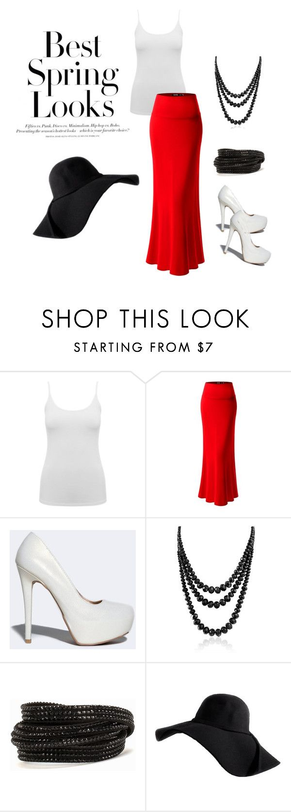 """Untitled #32"" by reetta-v on Polyvore featuring H&M, M&Co, Qupid, Bling Jewelry and Pieces"