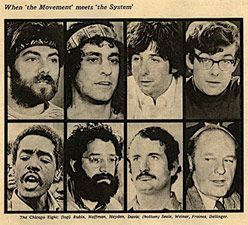 The Chicago 8 go on trial for 1968 Democratic Convention Riots in 1969