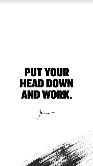 Put your Head Down | Quote Wallpaper HD