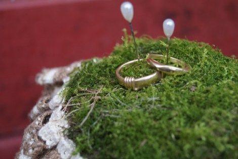 Eheringe, goldene Ringe, Rotgold, Goldringe, DIY-Ringkissen