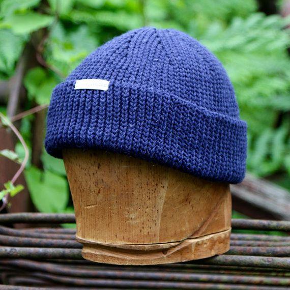 Navy blue wool watch cap navy beanie beanies for guys by UpthePitt