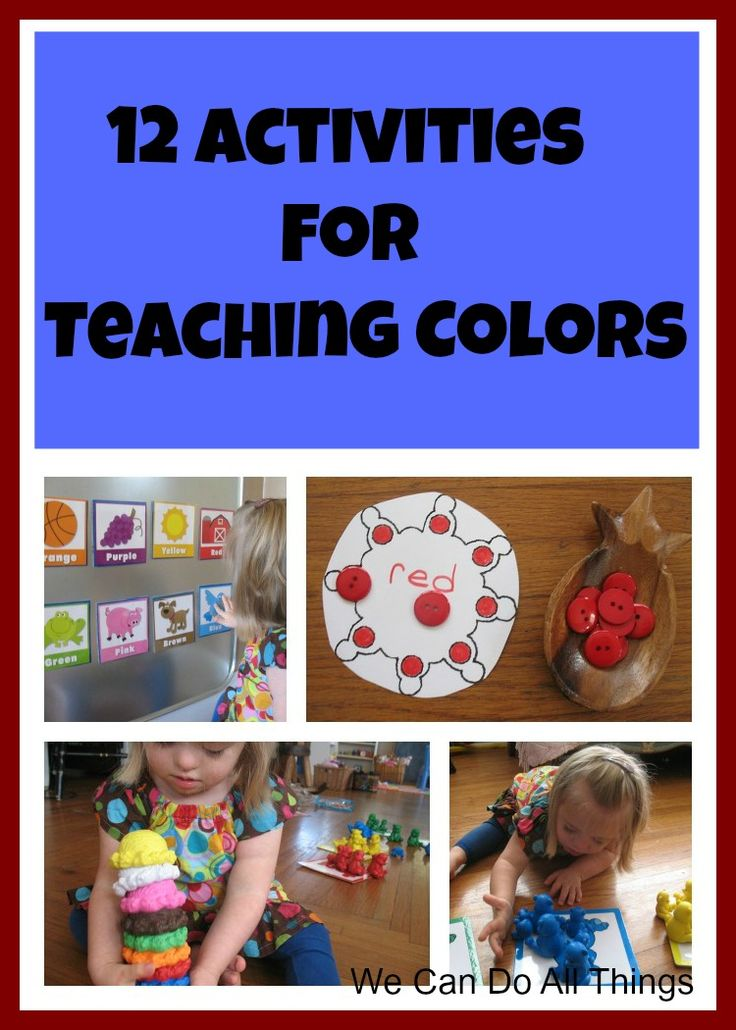 we can do all things: 12 Activities to Teach Colors and Have Fun
