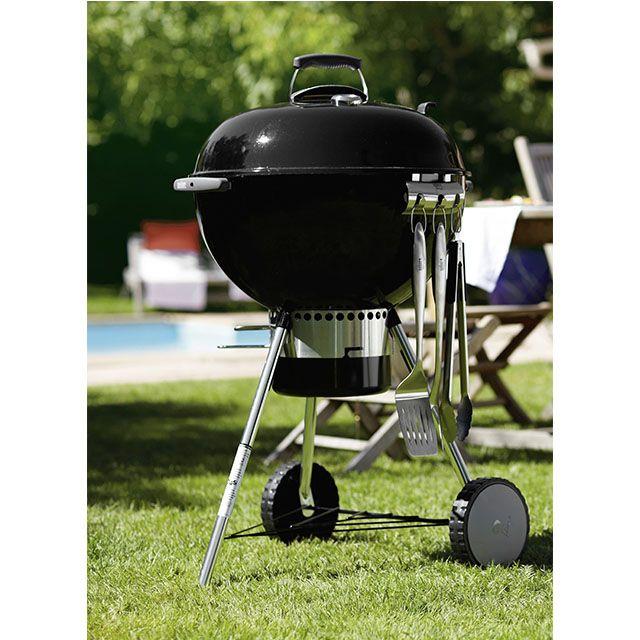 Barbecue Castorama promo barbecue pas cher, achat Barbecue charbon de bois Original Kettle Premium 57 + plancha prix promo Castorama 289.00 €