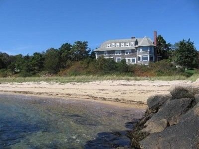 View of Olcottage from the private beach (actual venue)