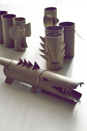 fun with toliet paper rolls.: Paper Tube, Wrapping Paper, Craft, Idea, Toilet Paper Rolls, Kids, Cardboard Tube, Animal
