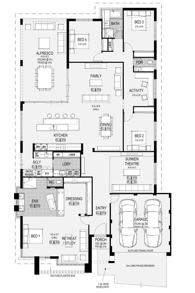 The #HoustonPlatinum #floorplan - available only at #HomeGroupWA