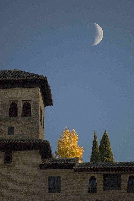 Moon over Alhambra, Spain