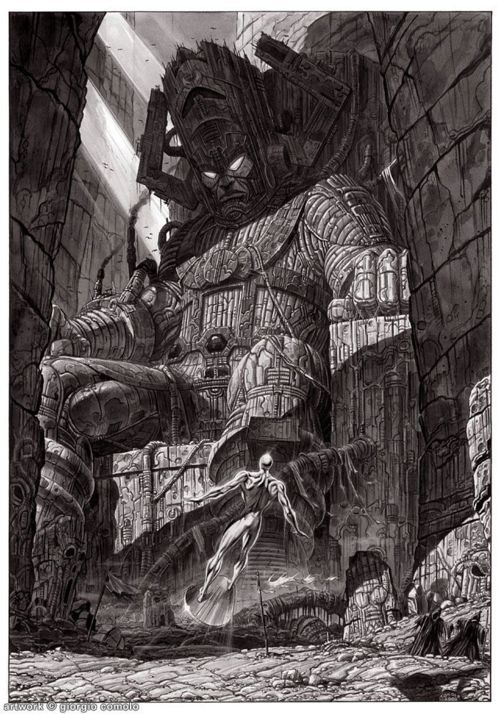 Galactus /// by Giorgio Comolo /// Could we get a film with the REAL Galactus...and not some smokey cloud? Yeeeeeeah....that'd be great. Thx.