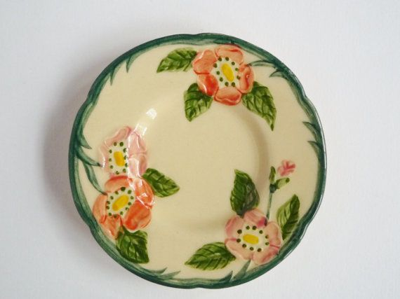 Franciscan Desert Rose Dish Small Vintage Trinket Dish Made in the USA Yellow & 14 best Franciscan Desert Rose - Pieces to Add to Collection images ...