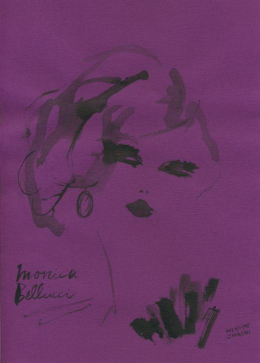 """""""Monica Bellucci for Dolce & Gabbana""""  昨日に引き続きモニカ・ベルッチ。たっぷりとしたブルネットの髪がセクシー。"""