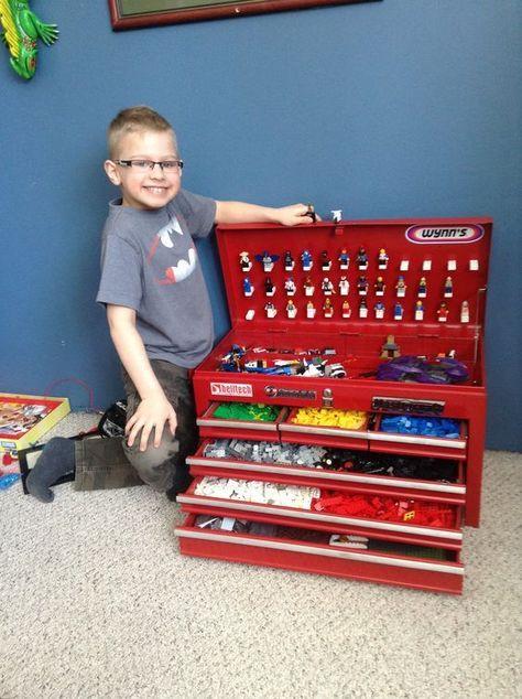 Lego Storage ideas - use a toolbox! #Lego #London #LegoStorage #Boxman #self-storage