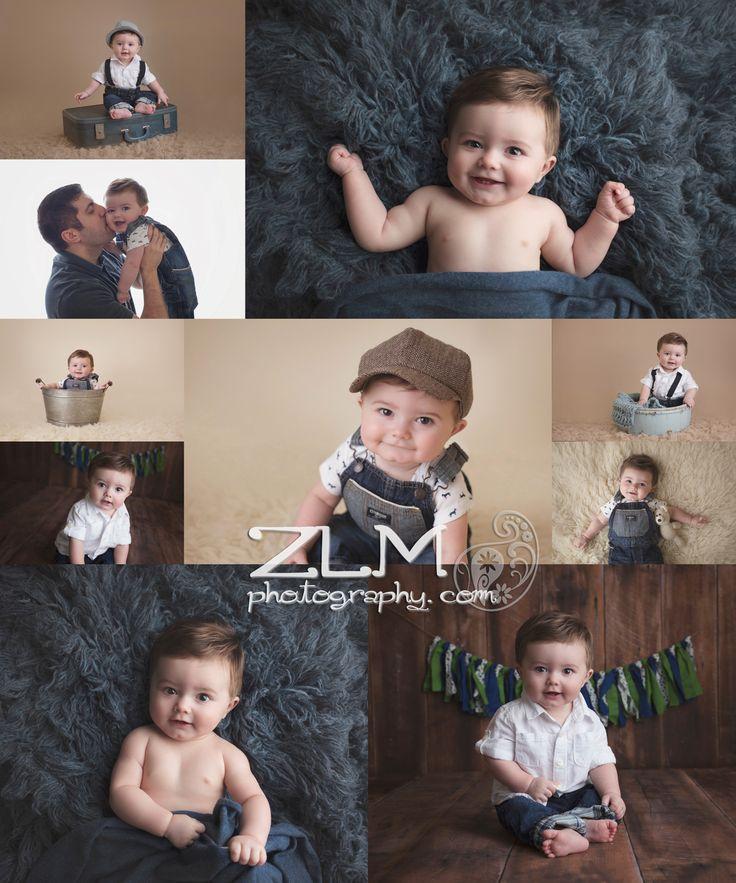 six month poses milestone sesion baby boy studio newnan peachtree city baby photographer
