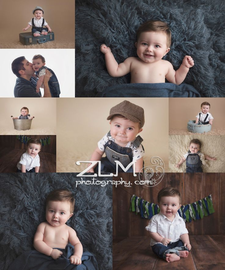six month poses milestone sesion baby boy studio newnan peachtree city baby photographer