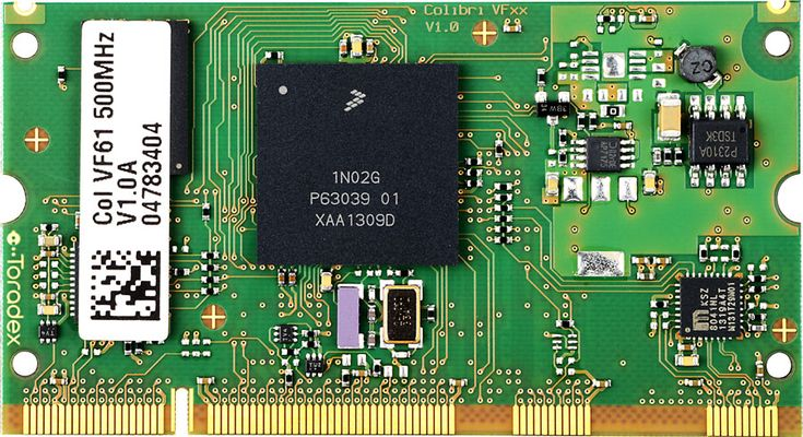 Colibri VF61 Heterogeneous Multi-core system on modules is ideal for simple Human Machine Interfaces in appliances and industrial machines, secure control of infrastructure and manufacturing equipment, energy conversion applications, ruggedized wired and wireless connectivity, and control of mobile battery-operated systems such as robots and industrial vehicles.  https://www.toradex.com/computer-on-modules