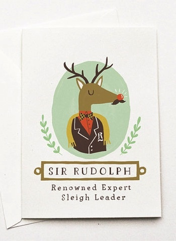 Quill-and-Fox-Sir-Rudolph-Holiday-Card