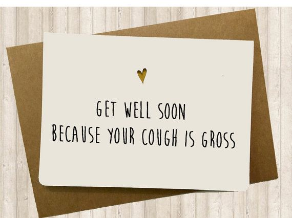 Handmade Funny Get Well Card