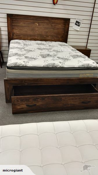*MG*Solid Wood NZ Pine Bed Frame with Storage | Trade Me