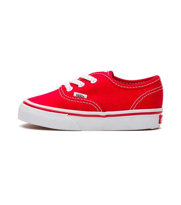 Vans Authentic Toddler Red, Kids Footwear, www.oishi-m.com