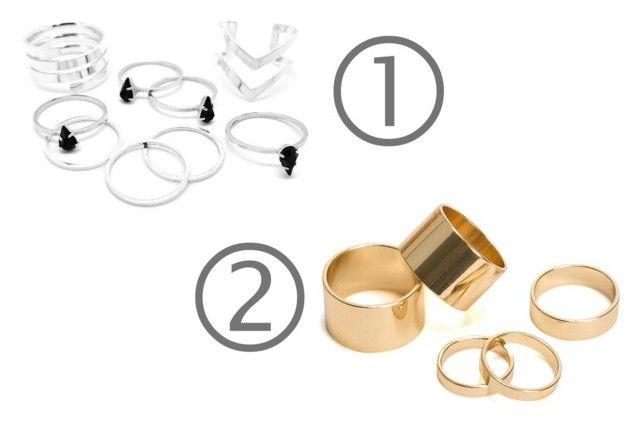 """srebro czy złoto"" by fashionandmore-blog on Polyvore featuring moda i Pieces"
