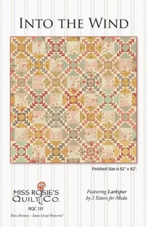 Loving this pattern by Miss Rosie featuring Larkspur from 3 sisters.