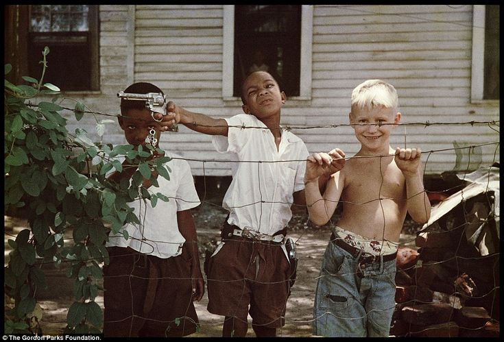 Gordon Parks, Mobile, AL, 1956. Good thing these boys with toy pistols didn't live in 2014 Cleveland where 12-year-old Tamir Rice, playing with a pellet gun, was shot within 1.5 seconds of the police pulling up to the playground.