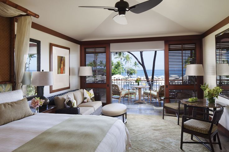 Guestroom at Four Seasons Hualalai Kona, Hawaii, United States